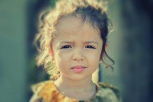 Tired toddler girl