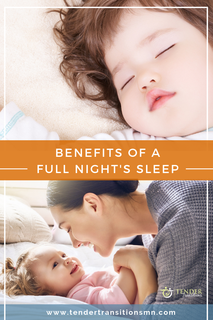 Benefits of adequate sleep, full nights sleep pin
