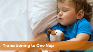 transition to one nap - toddler boy fast asleep