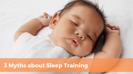 common myths about sleep training with sleeping baby | Tender Transitions