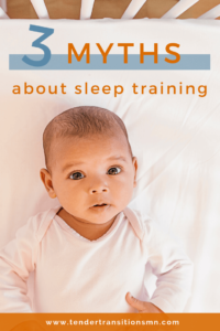 3 common sleep training myths pin