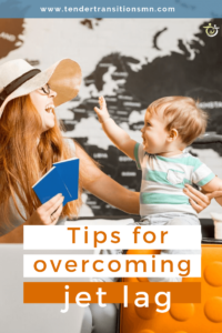 pin image for overcoming jet lag with a baby