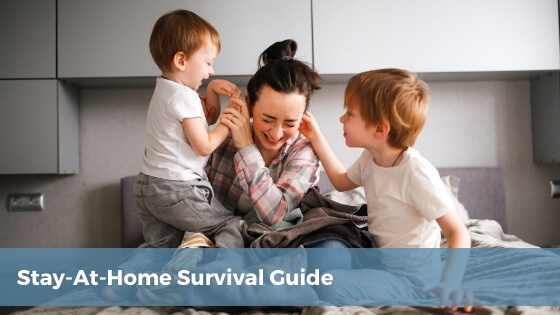 stay-at-home survival guide for parents