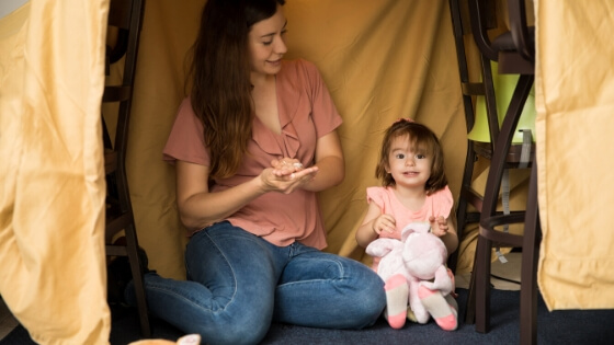 stay-at-home survival guide for parents tent building, move, dance, play