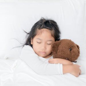 girl sleeping with teddy bear - Tender Transitions