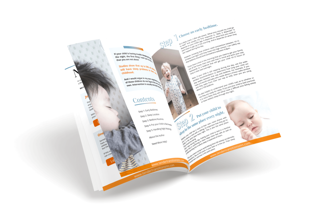 5 steps to getting your child to sleep through the night ebook inside preview