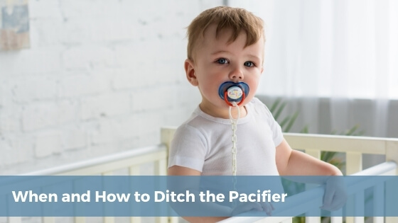 when and how to ditch the pacifier blog cover