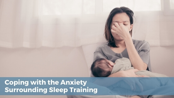 anxiety about sleep training, mom worried