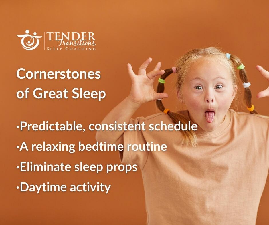 cornerstones of great sleep for children and children with special needs